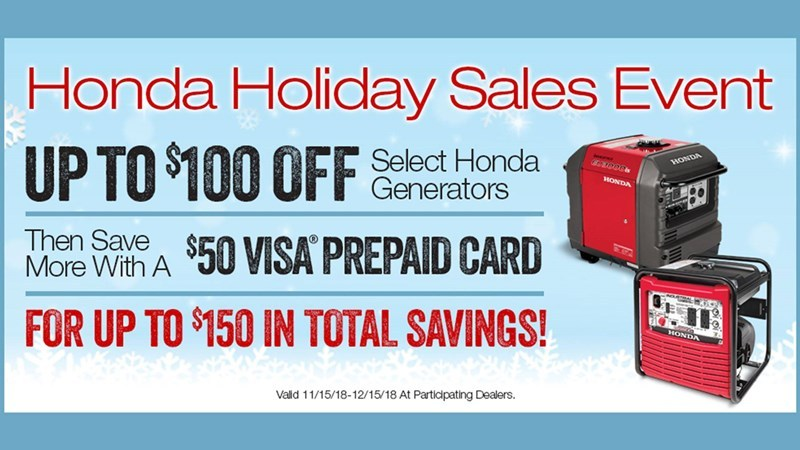 Honda Power Equipment - Holiday Sales Event